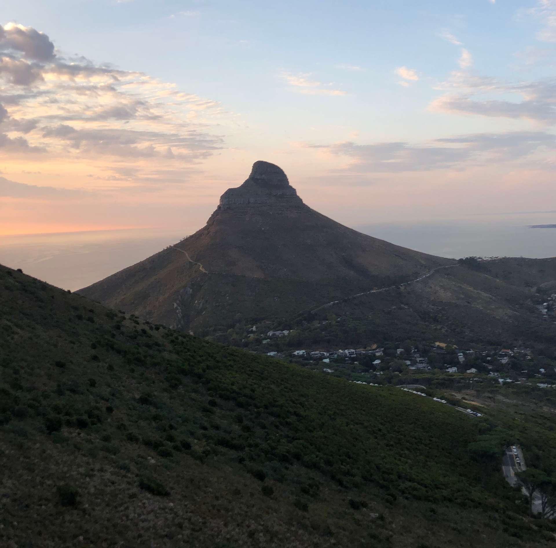 Zuid-Afrika, Kaapstad, uitzicht op Lion's Head