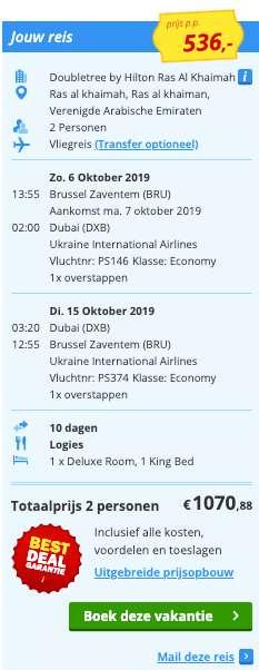 10 dagen Dubai voor €536