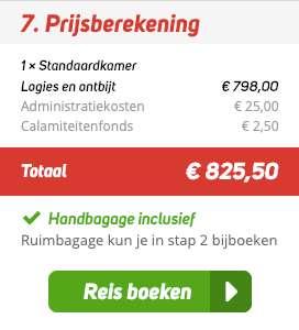 11 dagen Bangkok = €399