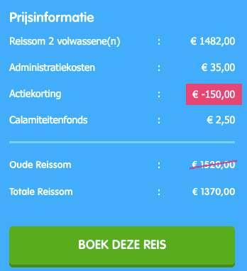 12-daagse cruise = €666