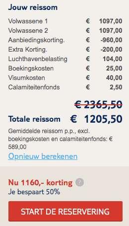 14 dagen startpakket cuba €589