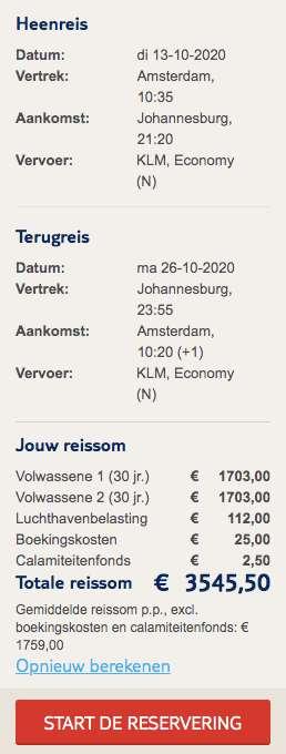 15-daagse rondreis Zuid-Afrika €1759
