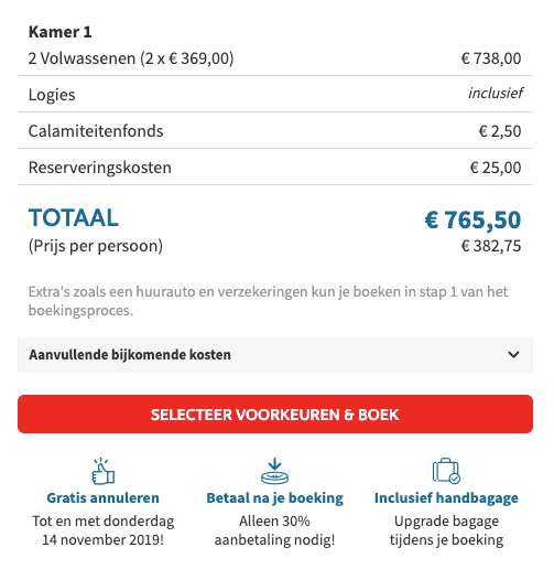 15 dagen Corfu €369
