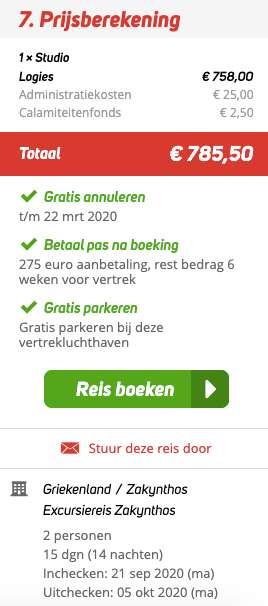15 dagen naar Zakynthos voor €379