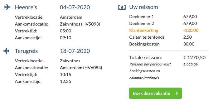15 dagen naar Zakynthos voor €619