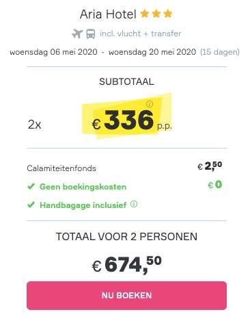 15 dagen Skiathos voor €336