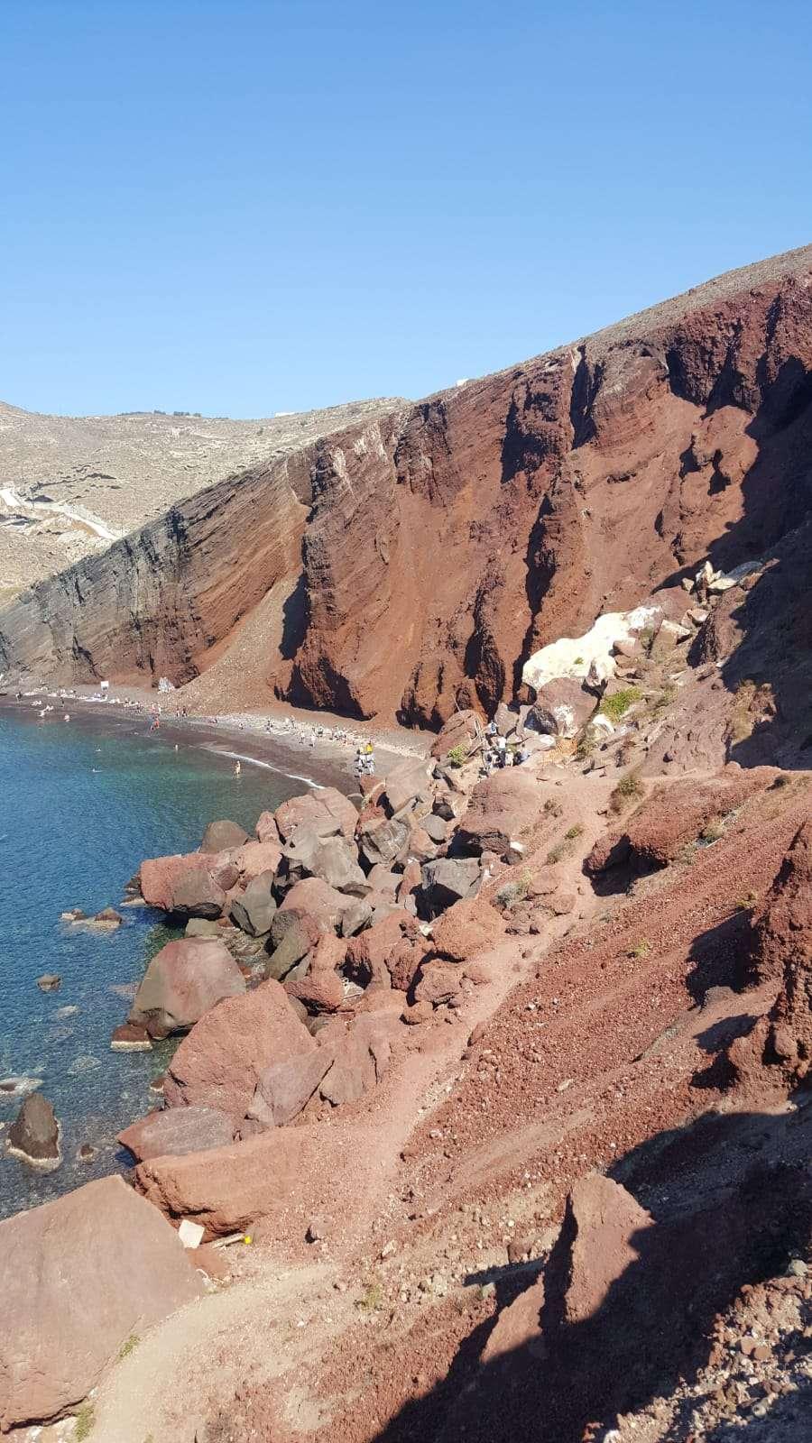 Griekenland, Santorini, Akrotiri rood strand