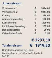 17 dagen Seychellen €946