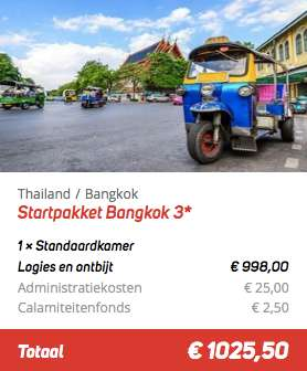 20 dagen Thailand €499