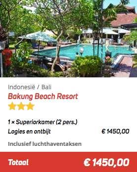 21 dagen Bali €725