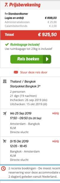 21 dagen Thailand voor €449