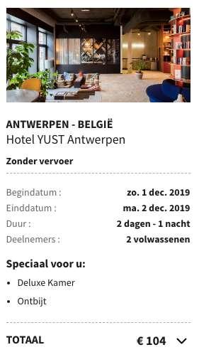 2 dagen Antwerp €50
