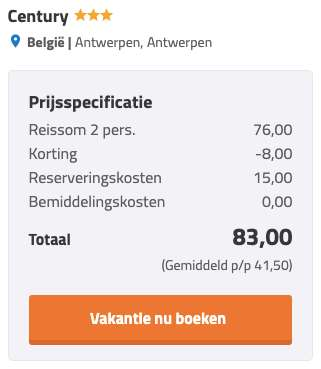 2 dagen Antwerpen €42