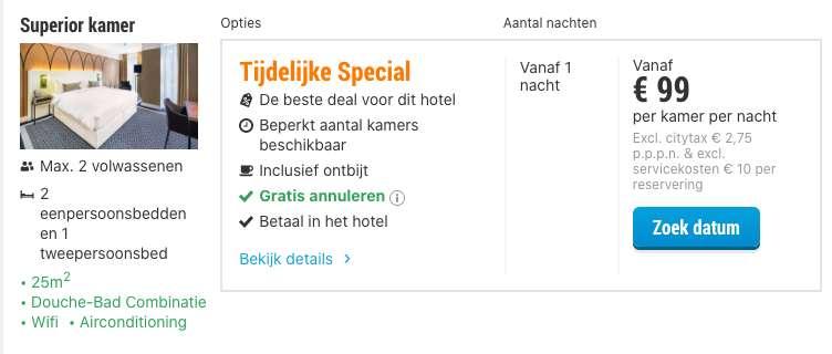 2 dagen Breda €49,50 p.p.