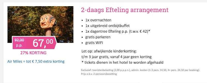 2 dagen Efteling-arrangement = €67