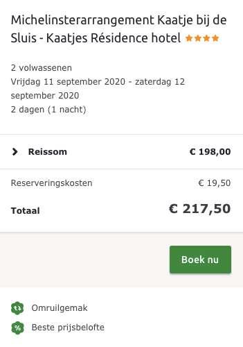 2 dagen Kaatje bij de Sluis €99