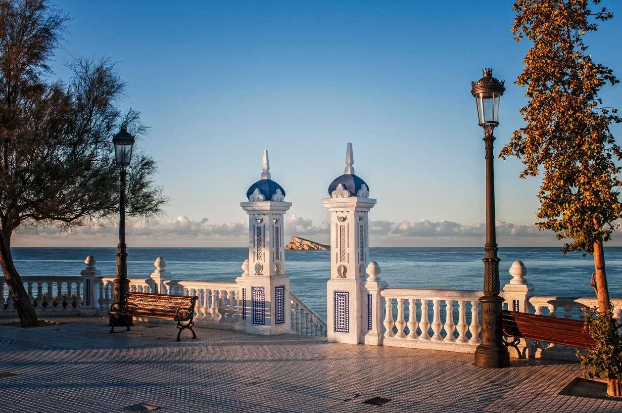 Spanje, Benidorm, uitzicht over zee