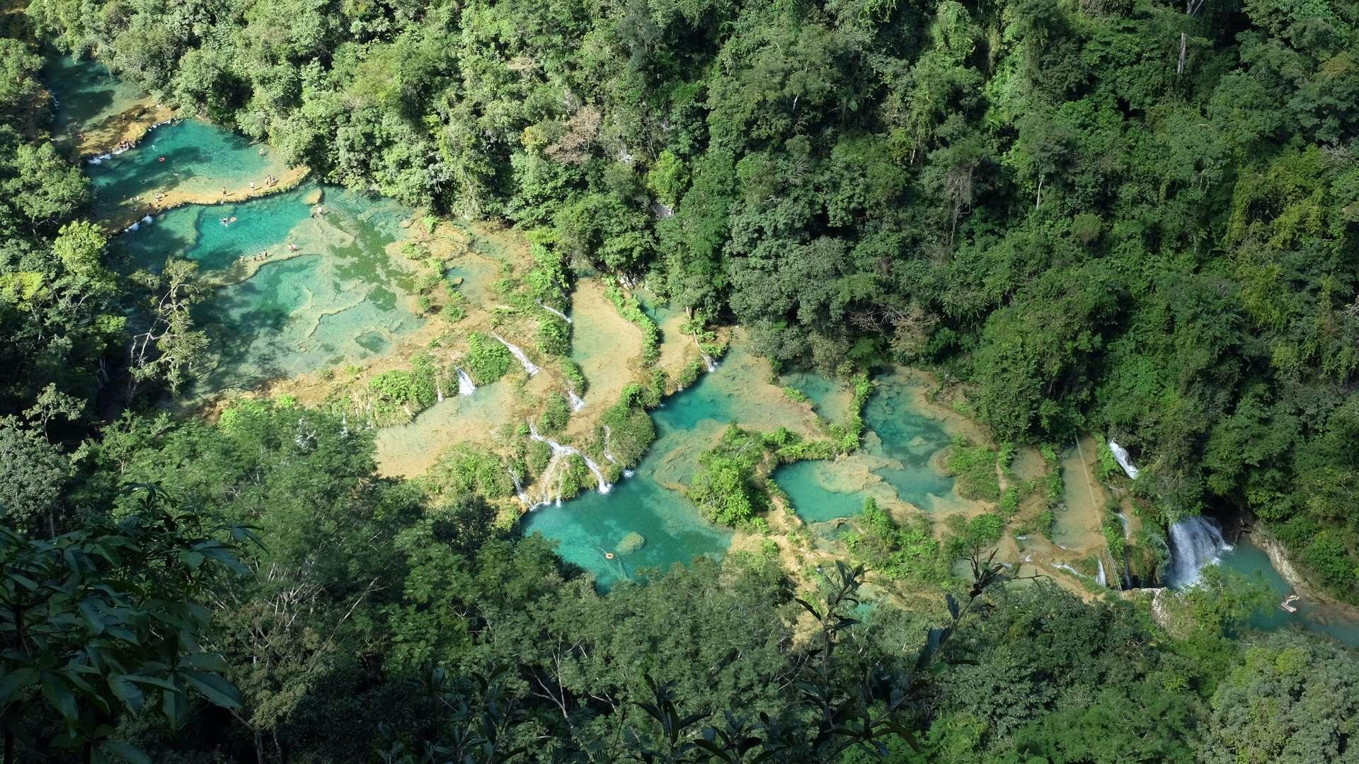 Natuurlijk zwembad, Semuc Champey, Guatemala