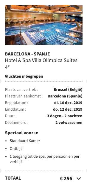 3 dagen Barcelona €109