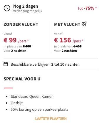 3 dagen Barcelona €156