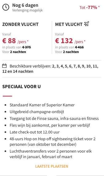 3 dagen Boedapest voor €132