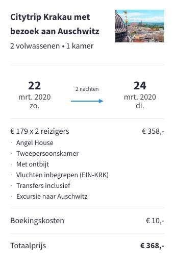 3 dagen Krakau voor €179