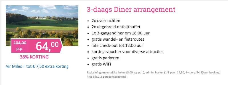 3 dagen Limburg = €64