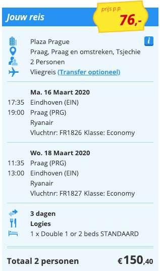 3 dagen Praag voor €76
