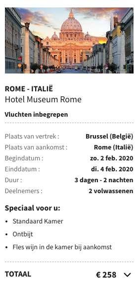 3 dagen Rome €107