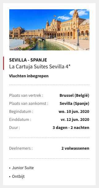 3 dagen Sevilla €153