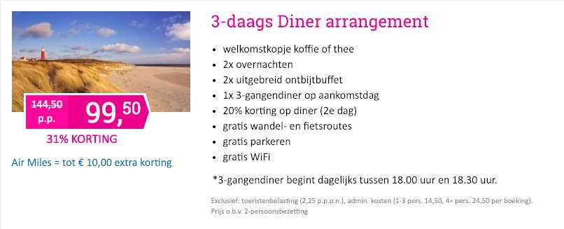 3 dagen Texel = €112,50