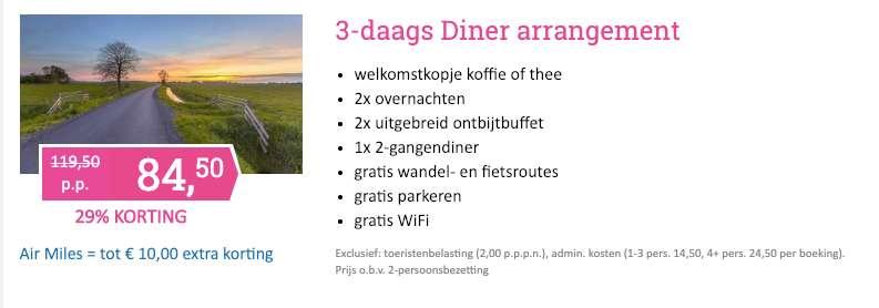 3 dagen Twente = €84,50