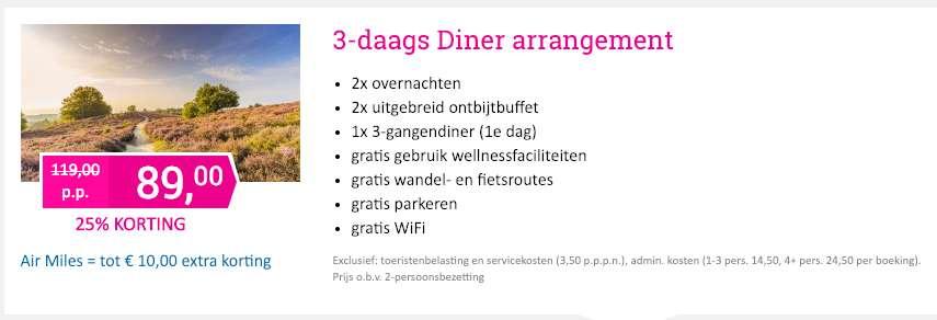 3 dagen Veluwe = €89