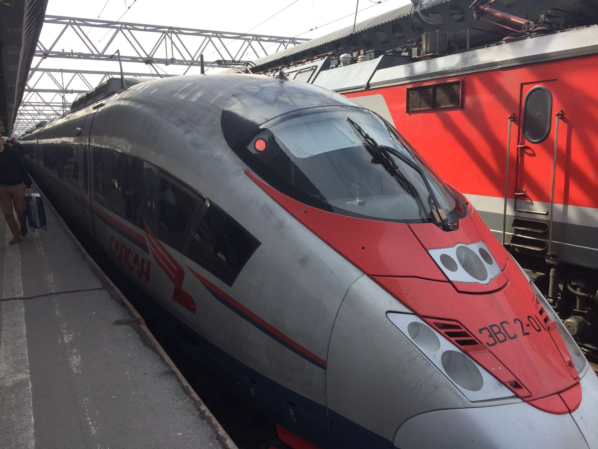 Rusland, Moskou, trein St. Petersburg