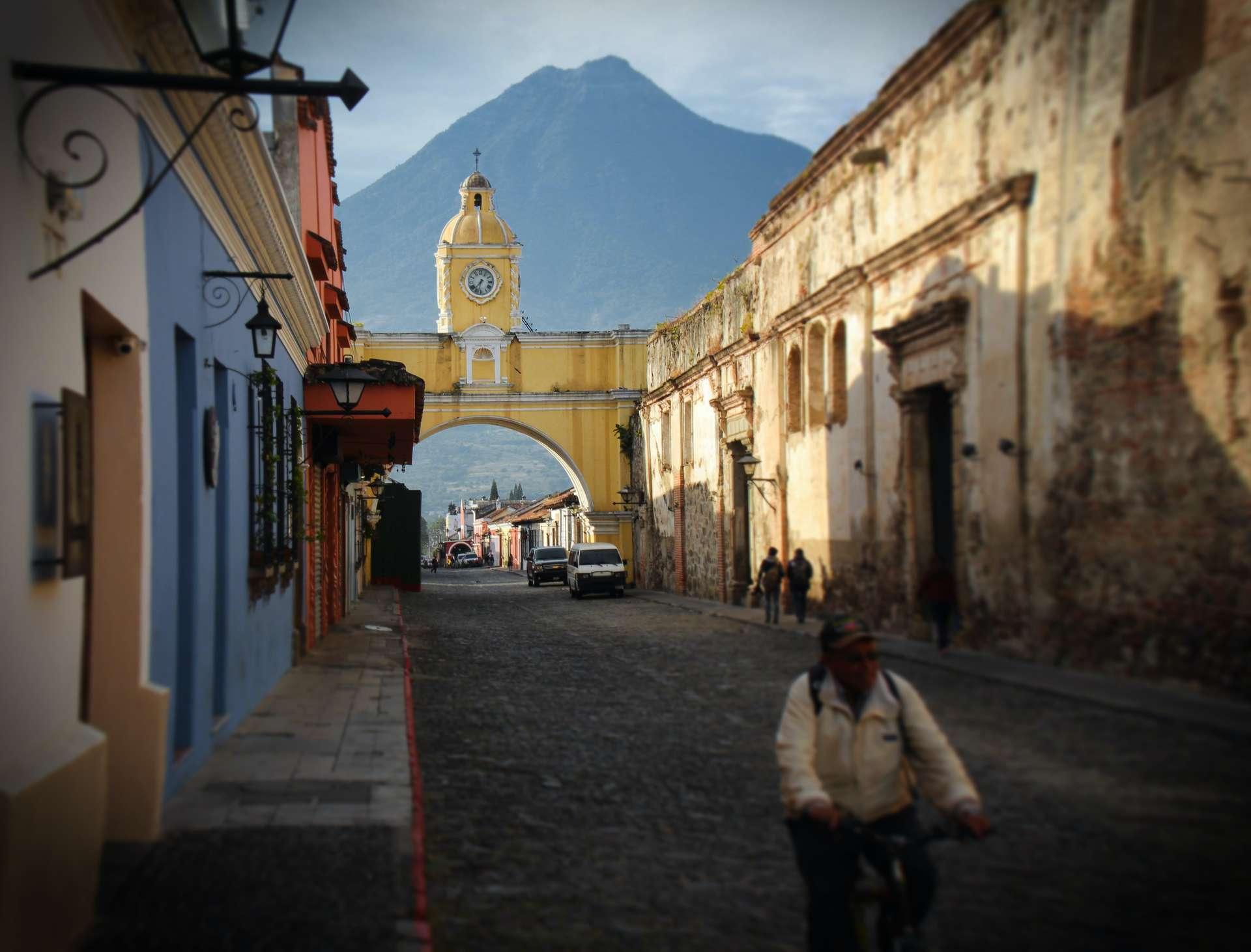 Guatemala, Antigua, straat