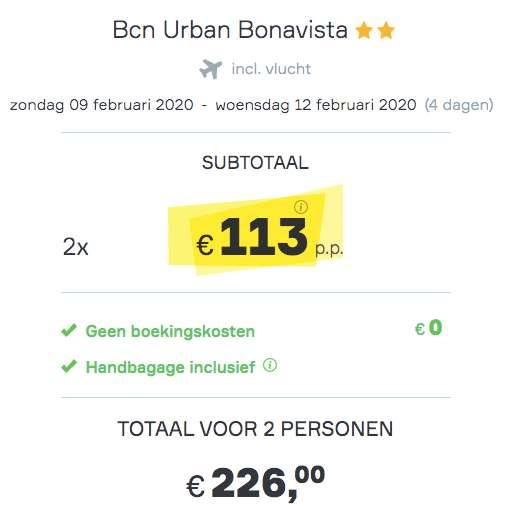 4 dagen Barcelona €113