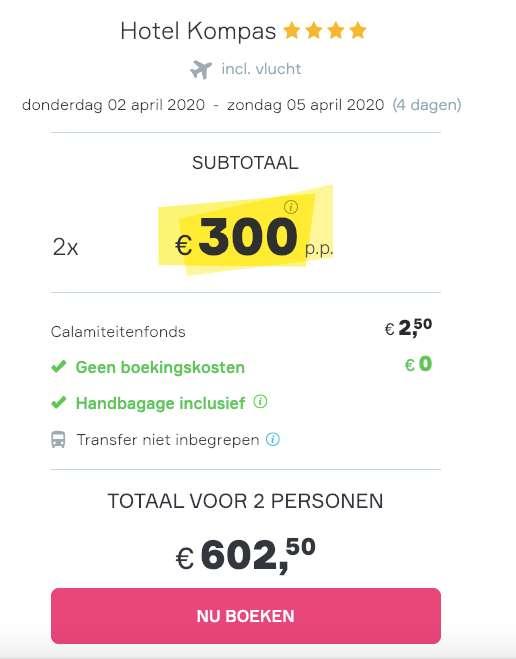 4 dagen Dubrovnik = €300