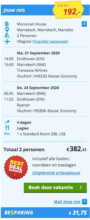 4 dagen Marrakech €192