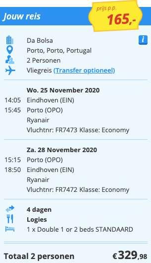 4 dagen naar Porto voor €165