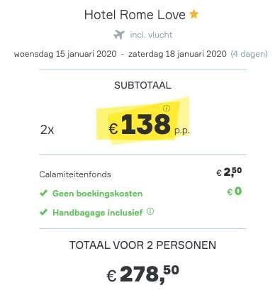 4 dagen Rome €138