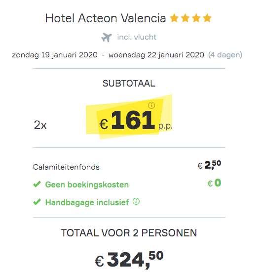 4 dagen Valencia €161