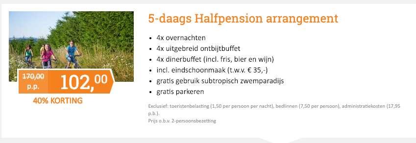 5 dagen Hambachtal = €102