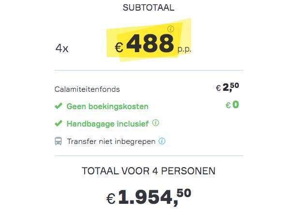 5 dagen Las Vegas €488