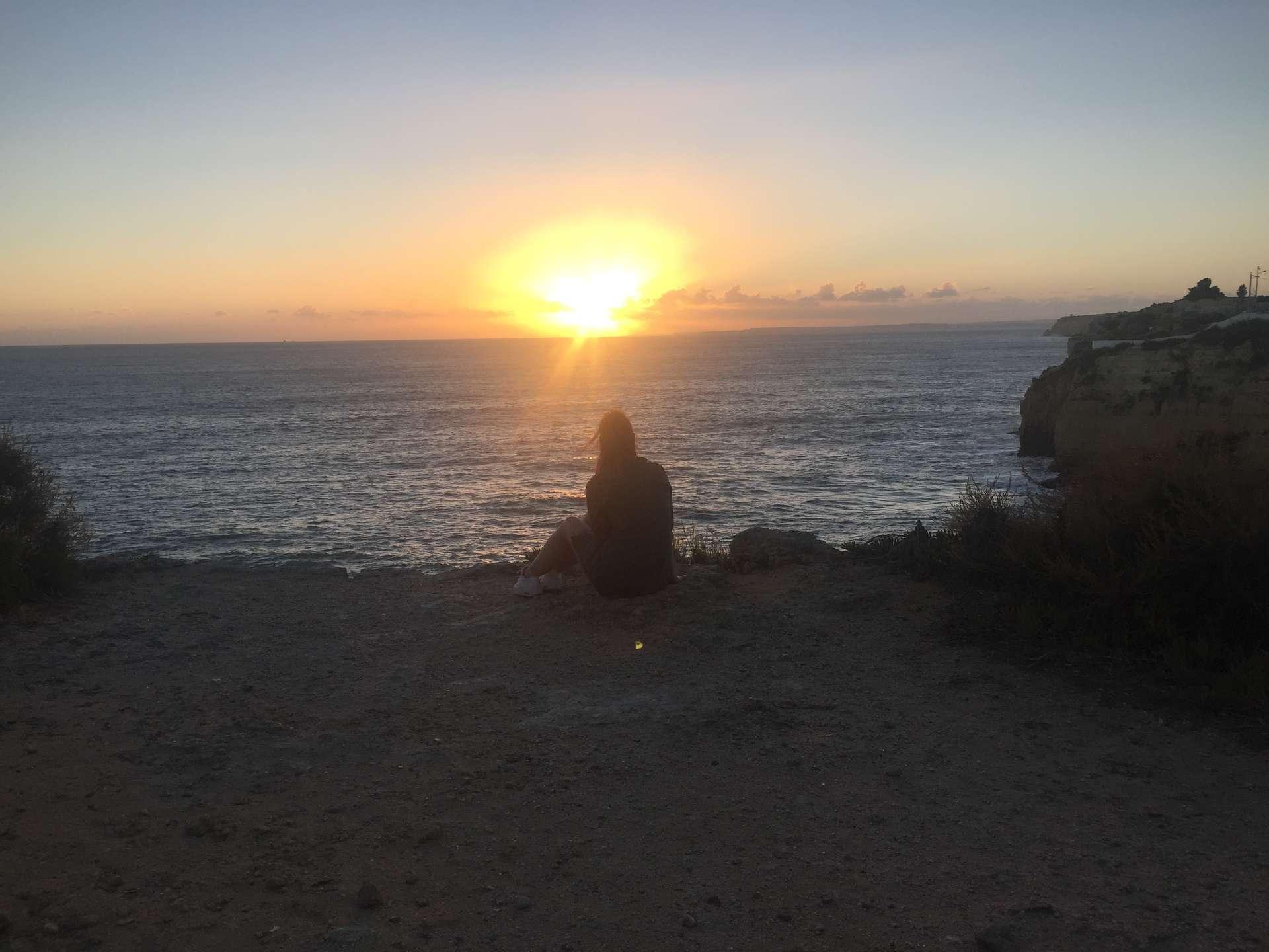 Zonsondergang Carvoeiro, Portugal