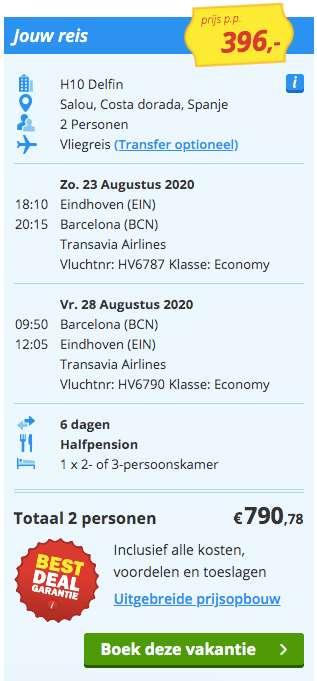 6 dagen Costa Dorada €396