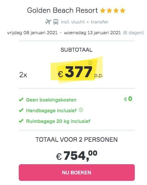 6 dagen Egypte €377