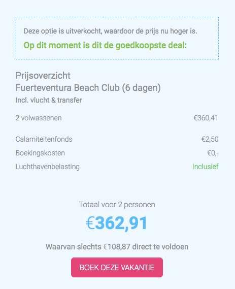 6 dagen Fuerteventura voor maar €180