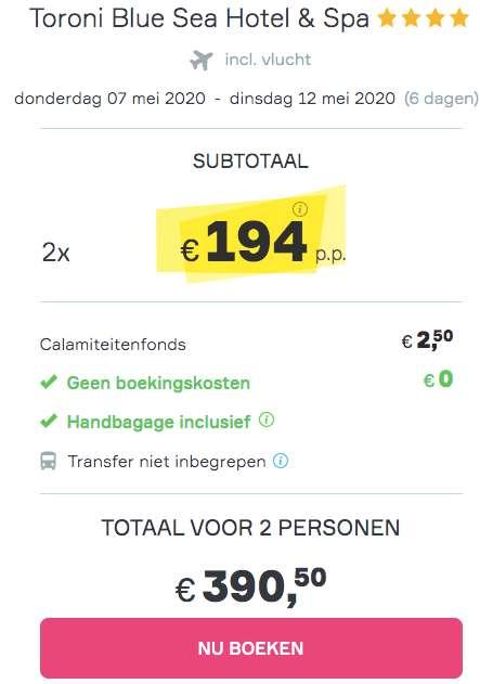 6 dagen naar Chalkidiki voor €194