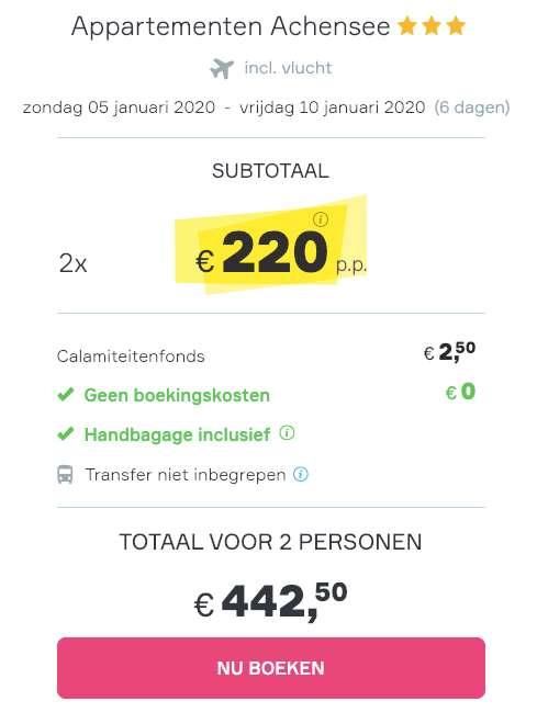 6 dagen Oostenrijk = €220
