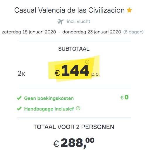 6 dagen Valencia €144